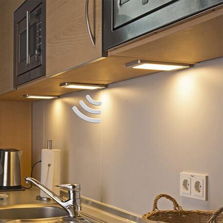 3er Set LED-Unterbauleuchten Sascha mit Sensor
