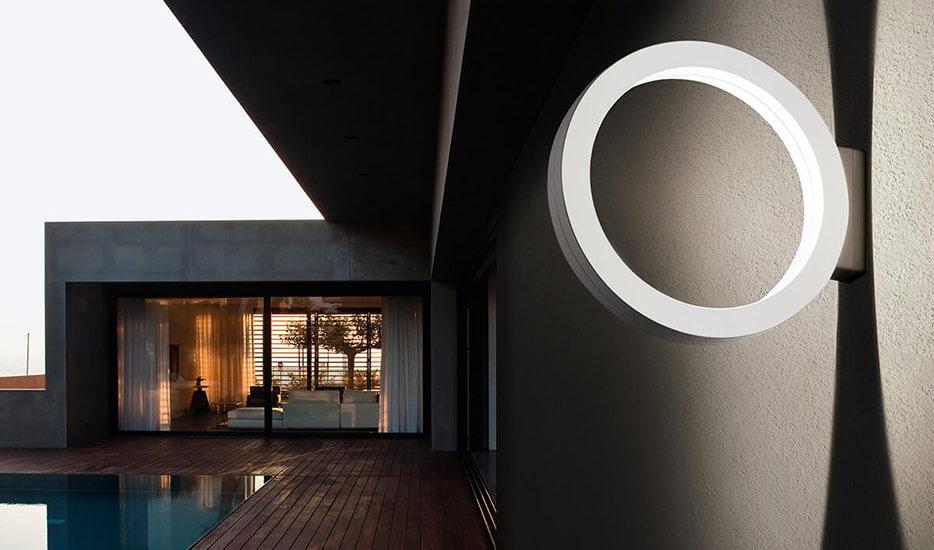 Cini&Nils Assolo - weiße LED-Außenwandleuchte