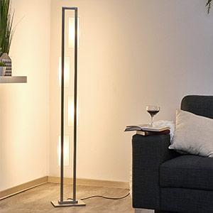 Puristische LED-Stehleuchte Nele mit Tastdimmer