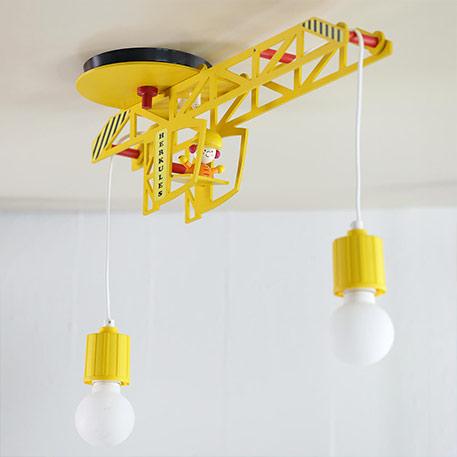 Tolle Kinderzimmer-Deckenlampe Bodo in Kranform