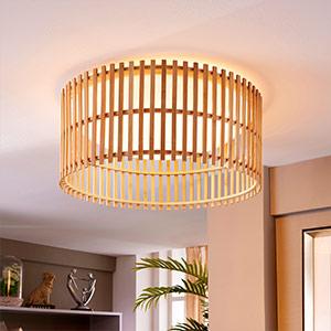 Tolle LED-Deckenlampe Leja mit Bambusstäben