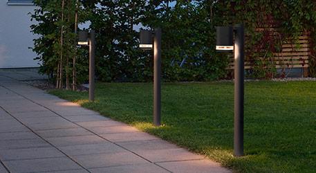 Dezent gestaltete LED-Pollerleuchte Modena