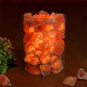 Salzkristalle im Glaß