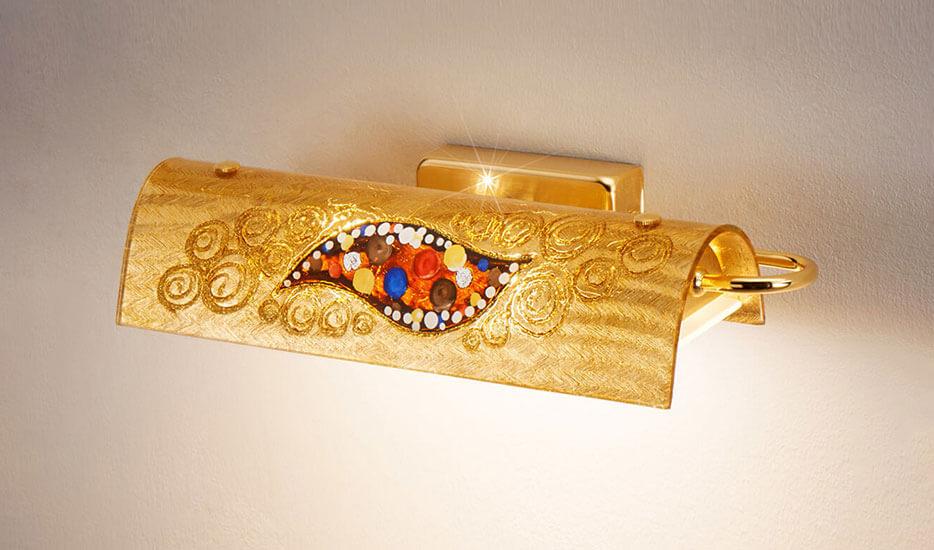 Kolarz Bankers Kiss - edle LED-Wandleuchte in Gold
