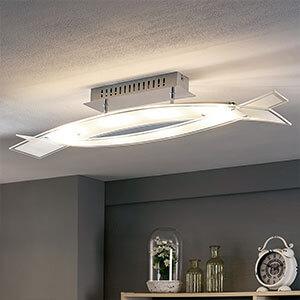 LED-Deckenlampe Elina aus Glas