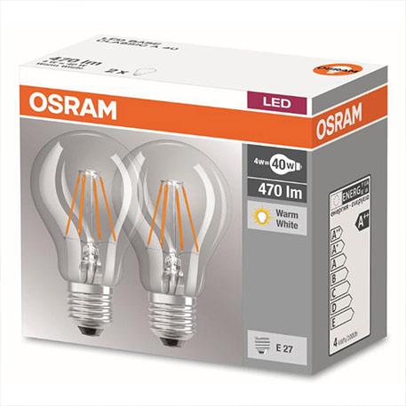 E27 4W 827 LED-Filament-Lampe 2er Set
