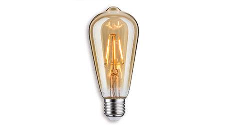 Paulmann LED-Rustikalampe E27 2,5W in Gold