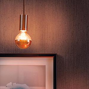 E27 7,5W 827 LED-Kopfspiegellampe Globe 95, kupfer