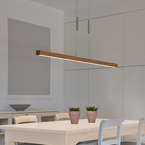 Dimmbare LED-Hängeleuchte Leonora - Massivholz 160