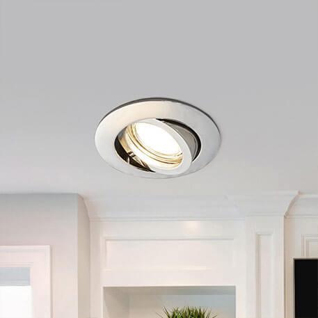 DE 1-10×9W Rund Einbaustrahler LED Panel Einbau Deckenleuchte Lampe Decken Weiß