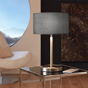 Romano - schicke LED-Tischleuchte mit Textilschirm