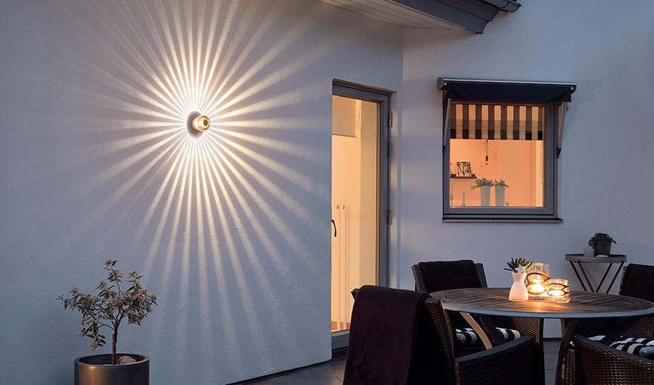 Bronzefarbene LED-Außenwandleuchte Monza