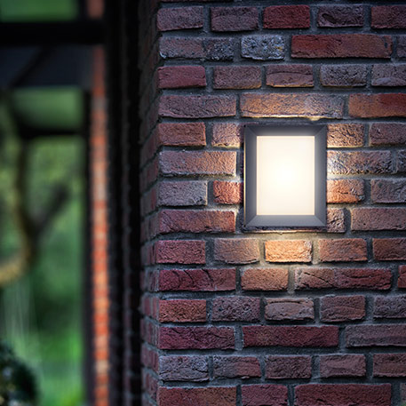 Philips Karp eckige LED-Außenwandleuchte