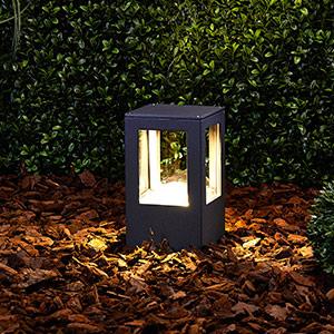 Rechteckige LED-Sockelleuchte Nicola, IP54