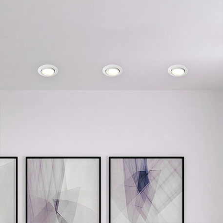 3er-Set Easydim-Einbauleuchten Honor mit LEDs