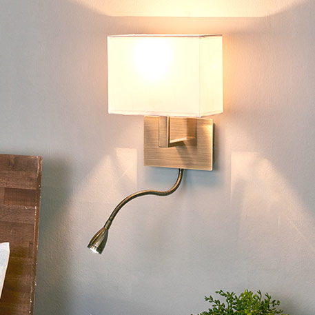 Ansprechende Wandleuchte DARIO mit LED Leselampe