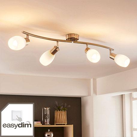 Vierflammige LED-Deckenleuchte Arda, easydim