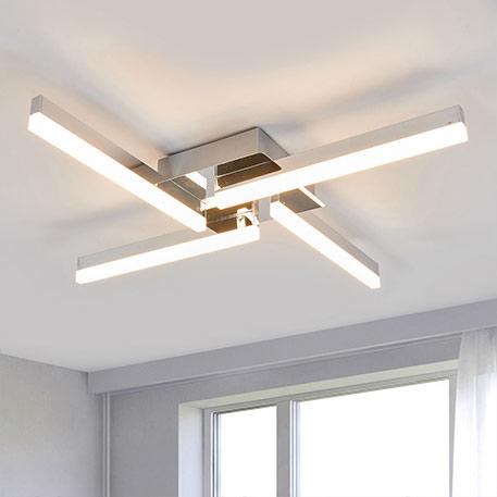 Vierflammige LED-Deckenleuchte Patrik, IP44
