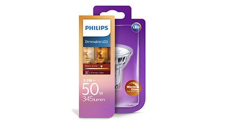 Dimmbare GU10 Leuchtmittel von Philips