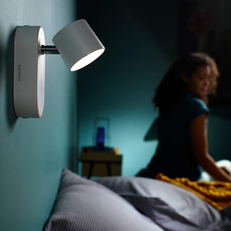 Philips Star schwenkbarer LED-Strahler weiß 1flg.
