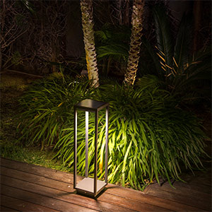 Solar-LED-Sockelleuchte Saura mit Bewegungsmelder