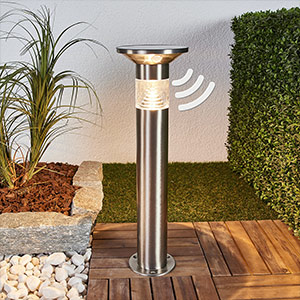 LED-Sockelleuchte Jalisa, Solartechnik und Sensor