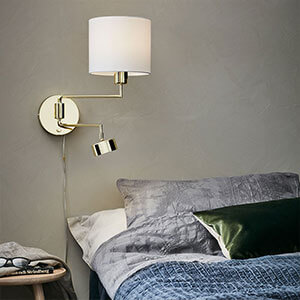 Wandlampe Thelma mit LED-Leselicht