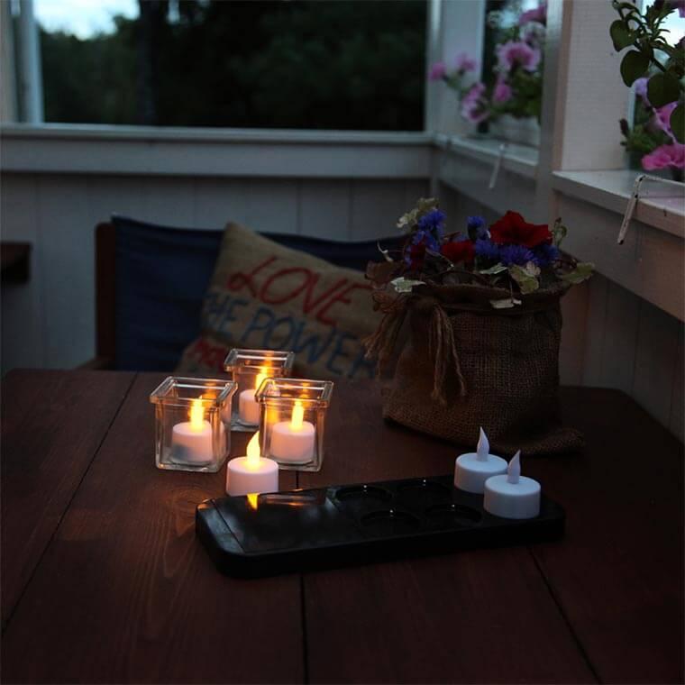 LED-Kerzen-außen