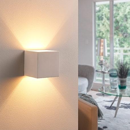 Nach oben und unten strahlende LED-Gipsleuchte Kay
