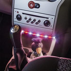 Paulmann YourLED LED-Strip rot-weiß, USB 30cm
