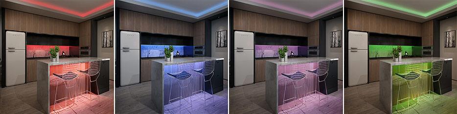 RGB-LED-Strip Nila mit Fernbedienung, 5 Meter