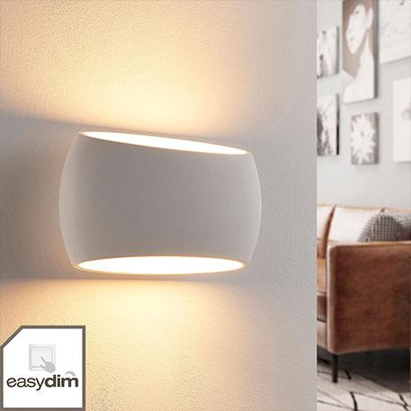 Weiße Easydim-Giswandlampe Guida, LED