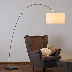 Textil-Stehleuchte Alia mit LED-Lampe
