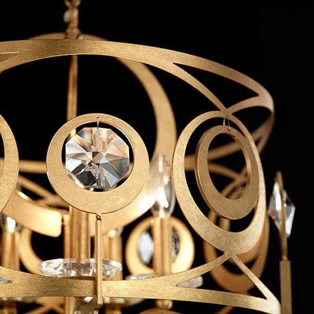 Schonbek Gwynn - goldene Kristall-Hängeleuchte