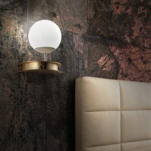 LED-Wandlampe Sfera in Gold