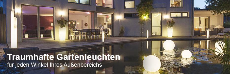 Häufig Gartenleuchten mit Solar, LED & Bewegungsmelder | Lampenwelt.de JY37