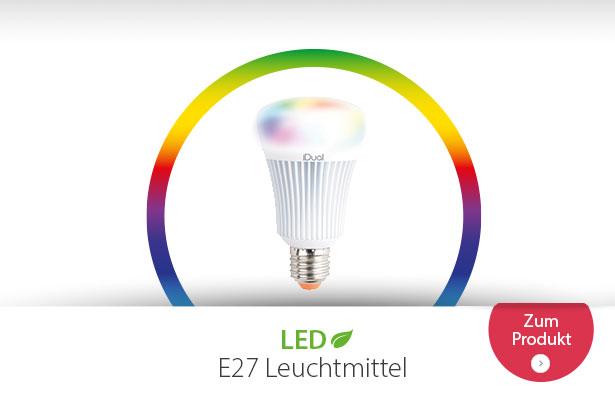 E27 LED-Lampe iDual G100 mit Fernbedienung, 16W