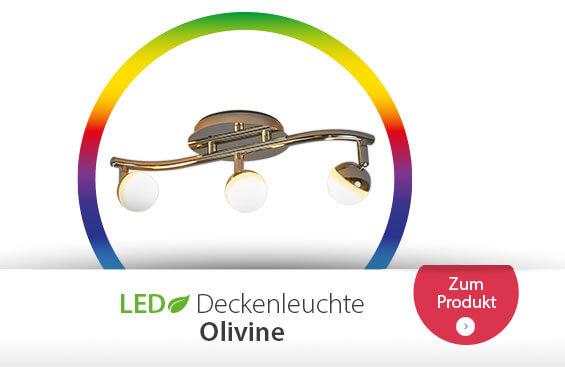 Olivine - steuerbare LED-Deckenlampe mit Fernbed.
