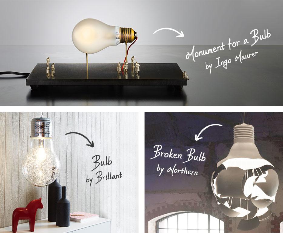 Glühlampe als Designer-Inspiration