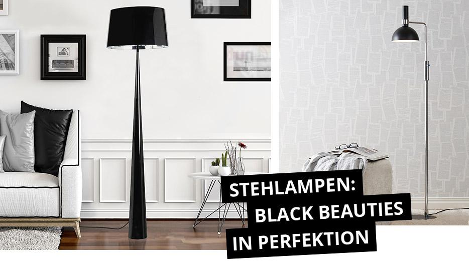 Stehlampen: Black Beauties in Perfektion
