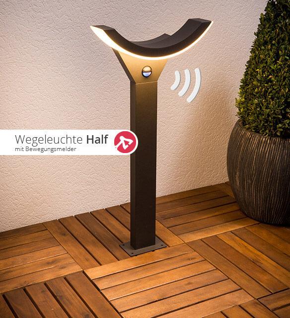 LED-Wegeleuchte Half