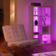 Farbiges Licht für Ambientebeleuchtung